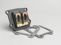 Valvola lamellare -POLINI Evolution- Minarelli 50cc (cilindro verticale) - BOOSTER, BUMP50, BWS50, SLIDER50, SPY, SR50 (-1994), STUNT, ZUMA50, AMICO