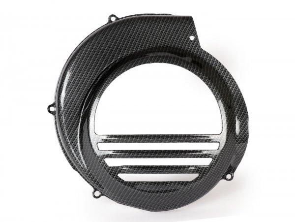 Lüfterradabdeckung -CIF Carbone Look- Vespa PX80, PX125, PX150, PX200 - Modelle mit E-Starter