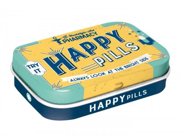 "Pillendose -Nostalgic Art- ""Happy Pills"" - 4x6x2cm"