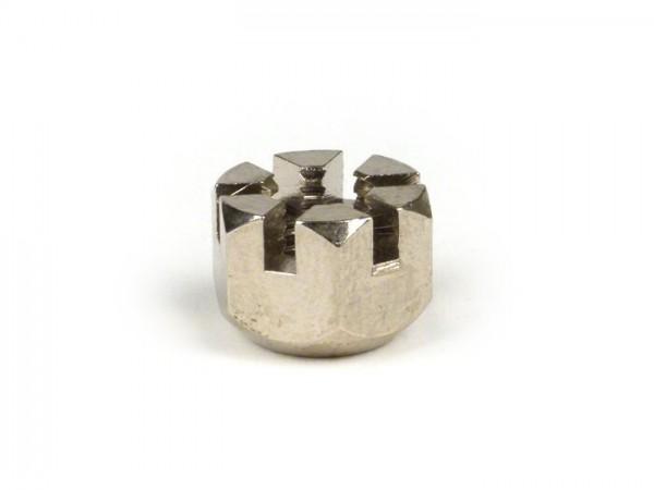 Domed castle nut for fork rods -LAMBRETTA- Lambretta C, LC - nickel plated