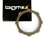 Clutch friction plate (single) -BGM PRO type Honda CR80- for BGM PRO Superstrong CR, CR 2.0 Ultralube, LTH Liedolsheim, MMW Hartz 4.2 & 4 & 5 clutch - carbon, Ø=110mm