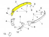 Fianchetto destra -PIAGGIO- Vespa GTS 125-300, GTV - non verniciato