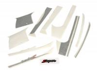 Sticker set for front legshield, mudguard and rear -PIAGGIO Sport- Vespa GTS Super, Super Sport 125-300 - anthracite/silver