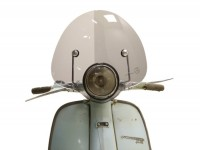 Parabrezza -AMS CUPPINI Bubble- Lambretta LI (serie 3) - media altezza, con staffe - nero