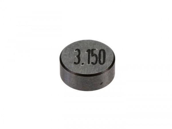 Valve shim Ø = 7.52 mm -PIAGGIO, h=3.150mm- Vespa LX 50 (ZAPC38700), Vespa S 50 (ZAPC38600), Aprilia Scarabeo 50 (ZD4TGE00, ZD4TGG00), Aprilia SR Motard 50 (ZD4CS5), Piaggio Fly 50 (RP8C52100)