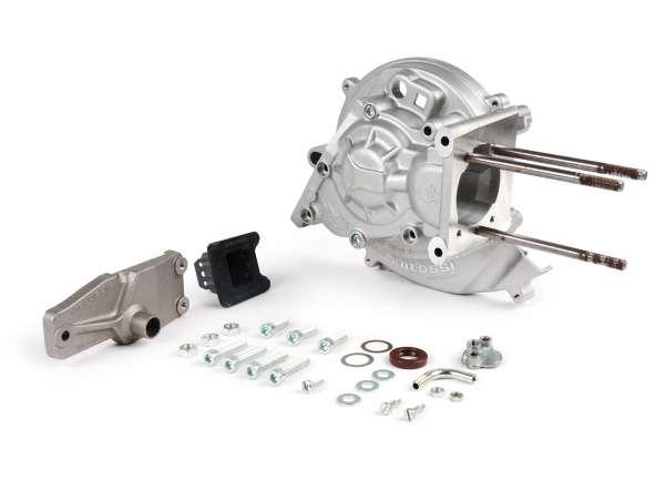 Motorgehäuse -MALOSSI MP-One, Membraneinlass, Kontaktzündung Piaggio Ciao, Boss, Boxer, SI, Grillo, Bravo, Superbravo, PX