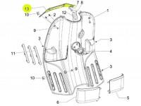 Halter Beinschildinnenverkleidung oben -PIAGGIO- Vespa S (ZAPC38, ZAPM44, ZAPM68)