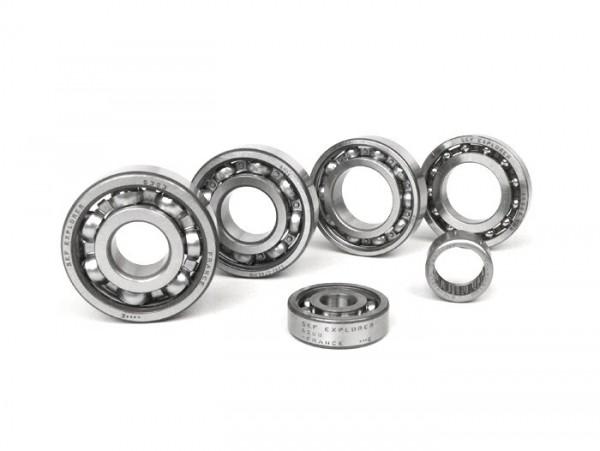 Juego rodamientos de bolas del motor -SCOOTER CENTER- Vespa Smallframe V50, V90, SS50, SS90, PV125, ET3, PK S, PK XL - conversión a cigüeñal ETS