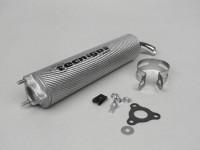 Endschalldämpfer -TECNIGAS 3-Loch Next R, RS- Carbon Silber