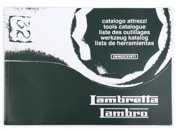 Tools catalogue -SCOOTERPRODUCTS- Lambretta and Lambro (1960's models)