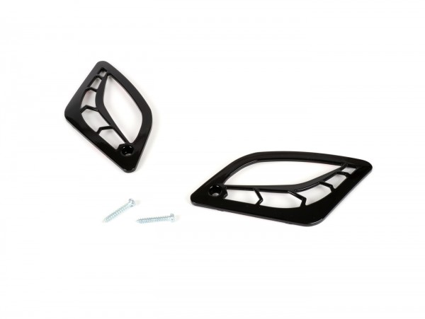 Blinkergitter -MOTO NOSTRA- Vespa GT, GTL, GTV, GTS 125-300 - hinten - schwarz glänzend