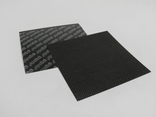 Membranplattenmaterial -POLINI- 110x110mm Carbon - 0,33mm