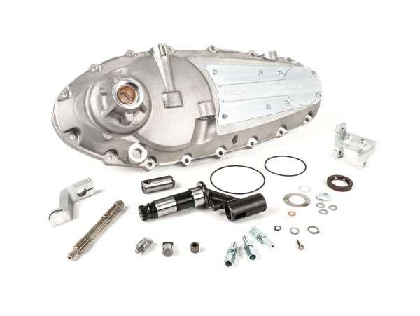Tapa motor -CASA PERFORMANCE CasaCover- Lambretta GP/DL - placa plateada