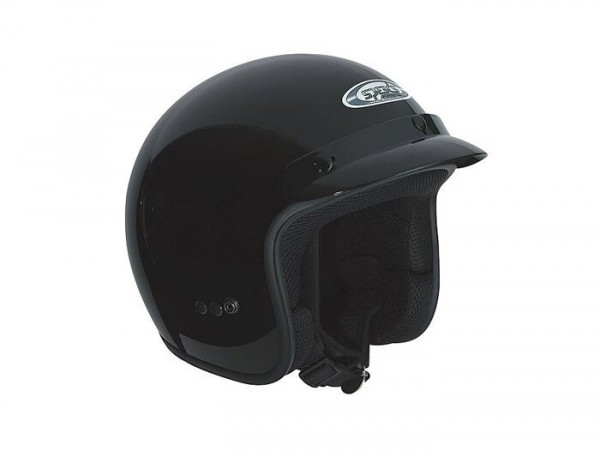 Casco -SPEEDS Jet Classic - nero lucido - S (55-56cm)