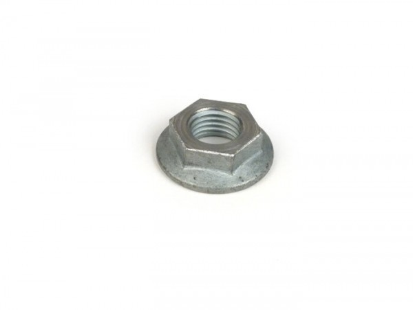 Nut M12 x1.5 WS=19 flat type (used for crankshaft/primary gear Vespa V50, V90, SS50, SS90, PV125, ET3, PK S, PK XL) - tensile strength=10