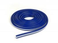 Floor board rubber -SKY- Vespa V50, PV125, ET3 - 2780mm - blue/white