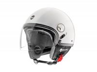 Helmet -HELMO MILANO- Demi jet, Eos, pearl white - XS (53-54cm)