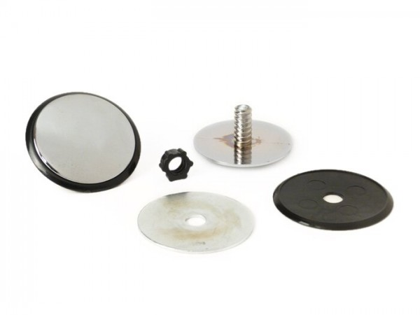 Cover for mirror hole - blind plug -  antenna hole - hole cover -UNIVERSAL- chrome - Ø=32mm (Vespa GT/GTS 125-300)