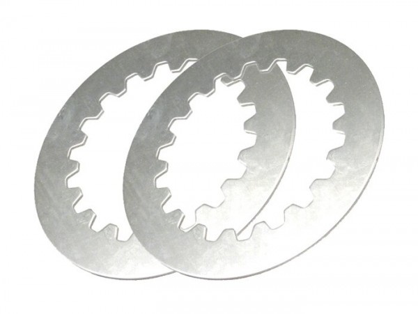 Clutch steel plate (2x) -PIAGGIO Cosa2- Vespa Cosa2, PX (1995-), position 3+4, without groove - 1.5mm