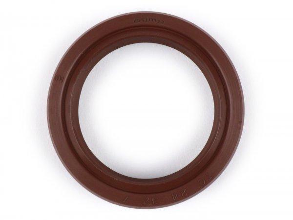 Oil seal 24x32x7mm -BGM PRO FKM/Viton® (E10/etahnol resistant)- (used for crankshaft flywheel side conversion ETS Vespa V50, V90, SS50, SS90, PV125, ET3, PK S, PK XL)