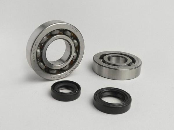 Kit rodamientos y retenes para cigüeñal -ATHENA- Kymco 50cc (tipo Dink)