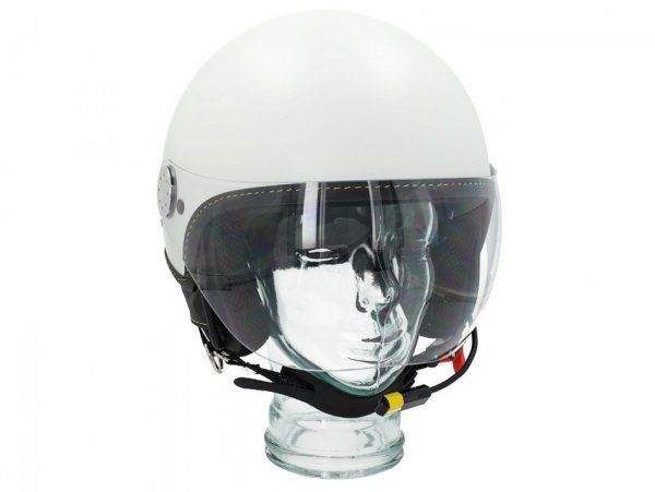 "Casque -VESPA Visor BT ""Super Tech""- blanc (bianco innocenza (544)) - XL (61-62cm)"