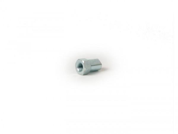 Tuerca moleteada Cable de freno -BGM ORIGINAL M6 x 1,0mm, SW10- cable del freno delantero Vespa PK, cable de freno trasero Vespa T5 125ccm, la conversión Vespa PX