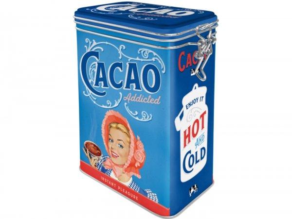 "Kaffeedose, Aromadose -Nostalgic Art- ""Cacao Addicted"" - 7.5x11x17.5cm (1.3l)"