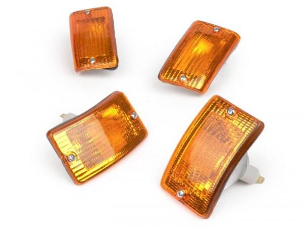 Blinker-Set -BOSATTA 4er- Vespa PK50 XL, PK125 XL - orange