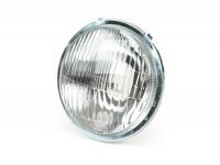 Scheinwerfer -OEM QUALITÄT, Ø=115/120mm (Glas/außen)- Vespa SS50, SS90, PV125, ET3, Super - Echtglas - ohne Scheinwerferstecker