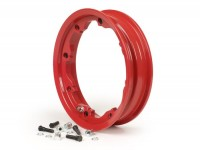 Wheel rim -FA ITALIA, tubeless, Octopus, 2.10-10 inch, alluminium- Lambretta LI (series 1-3), LI S, SX, TV (series 2-3) - red