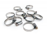 Hose clamp set -UNIVERSAL- 25-40mm - band width = 10 pcs