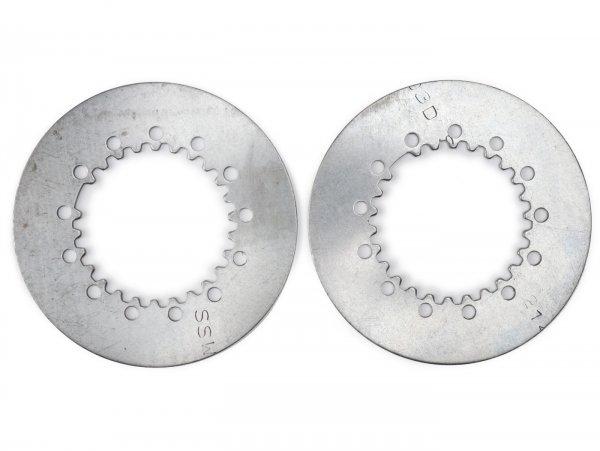Disque lisse d'embrayage -QUALITÉ OEM Vespa type 6 ressorts (PX80, PX125, PX150)