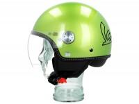 Helmet -VESPA Visor 3.0- green speranza (341A) - XS (52-54cm)