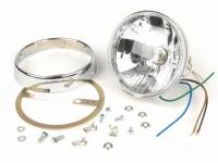 Headlight set clear lens -JOCKEYS 12V 35/35W HS1 (H4)- Lambretta LI (series 2), TV (series 2)