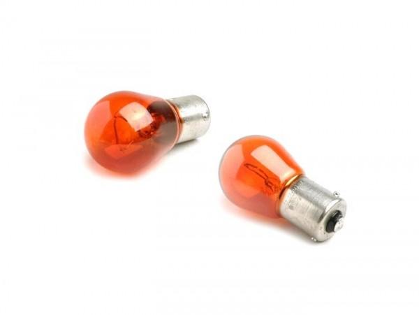 Lampadine -BAU15s (pioli sfalsati) - 12V 21W - set da 2 - arancione