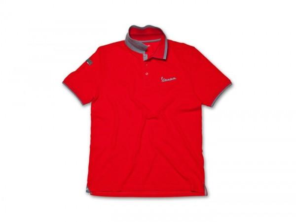 Polo-Shirt Herren -VESPA- rot - L