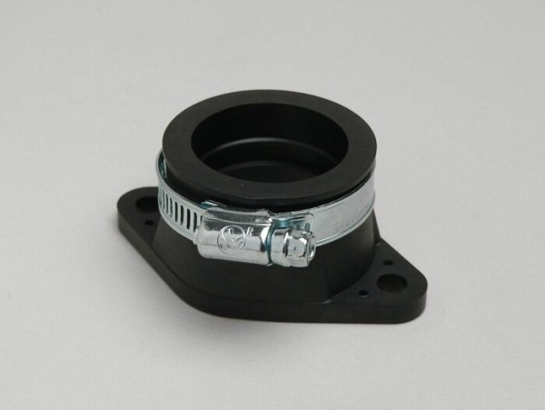 Carb rubber intake system, with flange -BGM ORIGINAL- CS=Ø=34mm, hole pitch=60mm