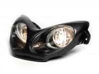 Headlight -BGM Next Generation- MBK Nitro (YQ50/L, 2-stroke), Yamaha Aerox (YQ50/L, 2-stroke) - carbon style