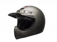 Helmet -BELL MOTO-3 Independent Matte Titanium 17- motocross helmet, grey - M (57-58cm)