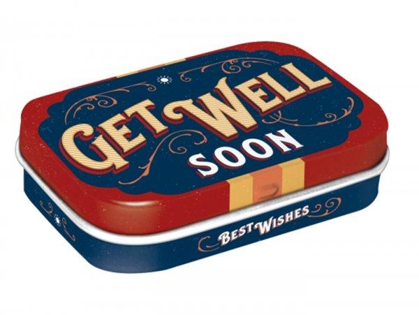 """Pillendose -Nostalgic Art- """"Get Well Soon"""" - 4x6x2cm"""