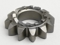 Piñón arranque -CALIDAD OEM- Vespa PX125, PX150, PX200, T5 125cc, Rally180 (VSD1T), Rally200 (VSE1T), Cosa - 12/12 dientes, Ø=20,5mm