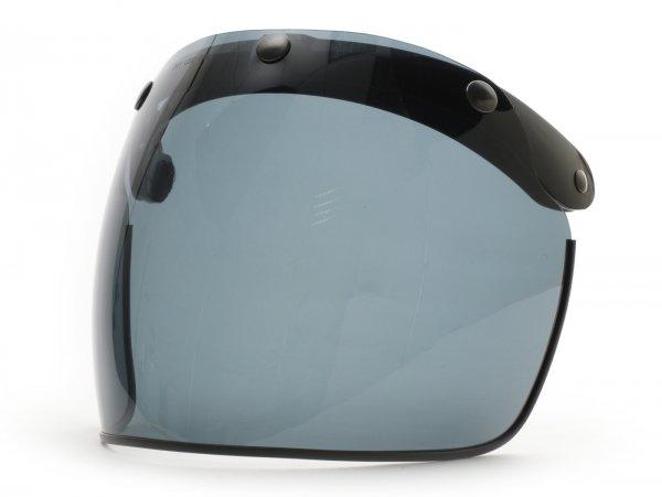 Flip-up visor for open face helmet -DMD Vintage Flip-Up Visor - smoke