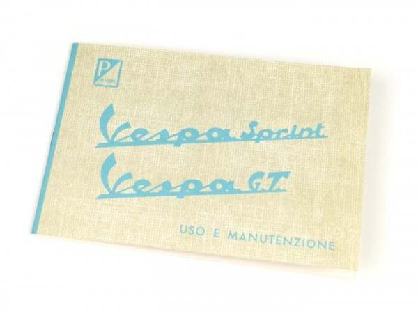 Owner's manual -VESPA- Vespa Sprint, GT (1965-1966)