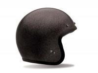 Helm -BELL Custom 500, Solid Flake Black- Jethelm, schwarz - S (55-56 cm)