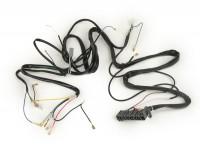 Kabelbaum -GRABOR- Vespa PX Lusso (Italien), mit Blinker, ohne Hupengleichrichter, ohne Batterie, Hupe AC (Schnarre), Zündgrundplatte mit 5-Kabel