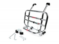 Front rack, fold down -FACO- Vespa S - chrome