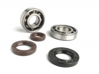Bearing and oil seal set for crankshaft -BGM ORIGINAL- Morini 50cc