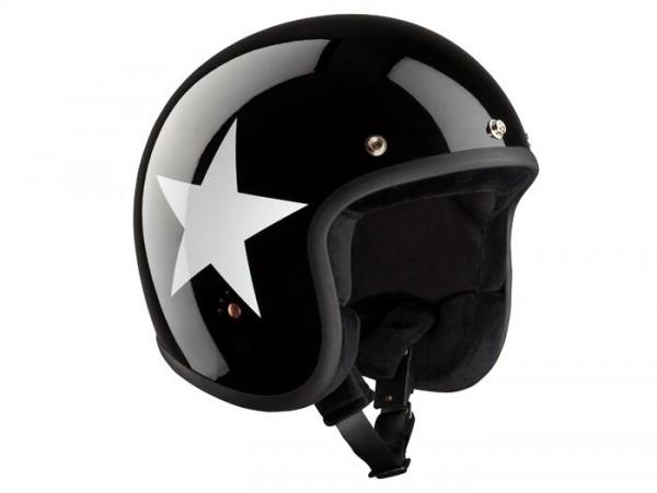 Helm -BANDIT ECE Star Jet- schwarz / weiss - S (55-56 cm)