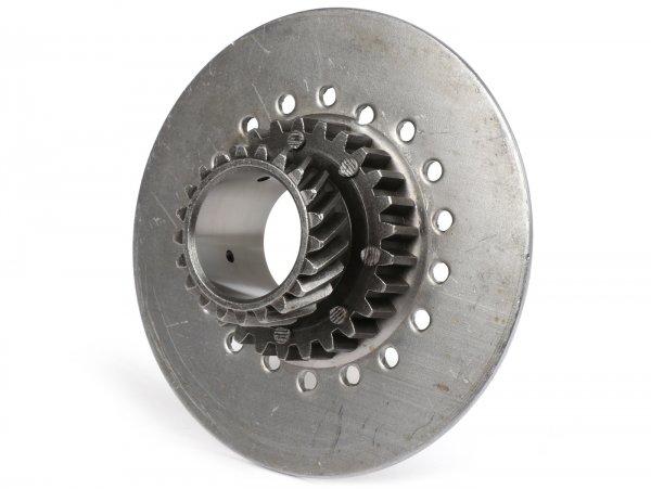 Kupplungsritzel -OEM QUALITÄT, Vespa Typ 7-Federn für originales Primärrad (schrägverzahnt) 67/68 Zähne - 21 Zähne (original verwendet in Cosa125, Cosa200)